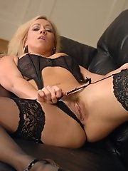 Charlee Chase has it all, Gorgeous long blondE hair, superb long legs with a seriously sexy curvacious body. Charlee's legs look even better coat